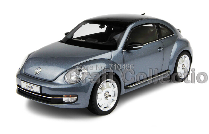 Gray Kyosho 1:18 Volkswagen VW Beetle Coupe Diecast Model Car Static Gifts Classic Vehicle - Craft Collection store