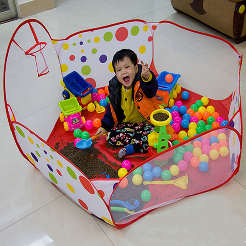 Free Ship 1m 1.2m 1.5m Baby Kids Play Yard Portable Outdoor Indoor Toy Tent Cloth Tent Polka Dot Safety Playpen Tienda Corralito(China (Mainland))