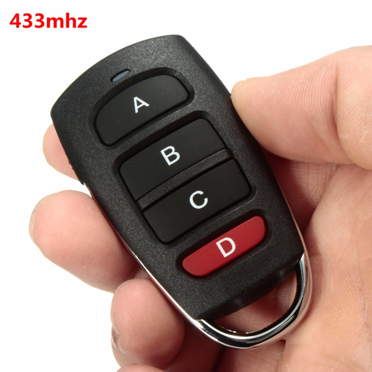 Universal 4 Channel 433mhz Wireless Remote Control Copy Cloning Electric Garage Door Security Alarm Controller Key Fob Car Keys(China (Mainland))