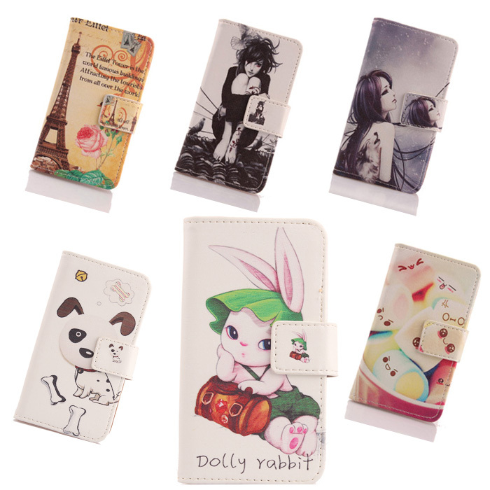 AIYINGE Case For UTime Smart U6 Painting Leather PU Skin Cell Phone Cover Book Design Wallet Pouch & Card Holder(China (Mainland))