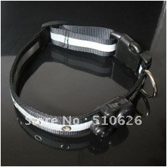 UW-PC-021 LED dog collar,flashing pet collar, lighted dog collar with free shipping