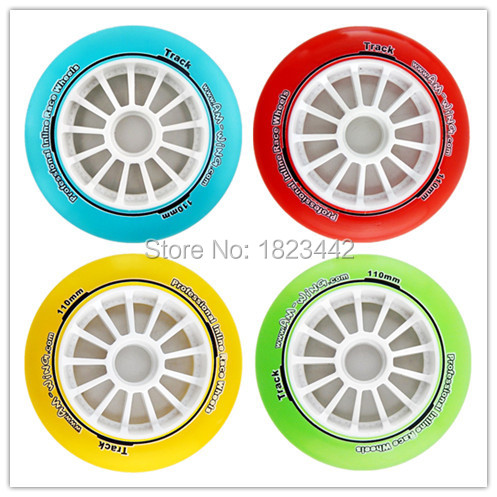 In StockCrystal professional inline race wheels skating Wheels 90mm/100mm/110mm Speed skating Wheels(China (Mainland))