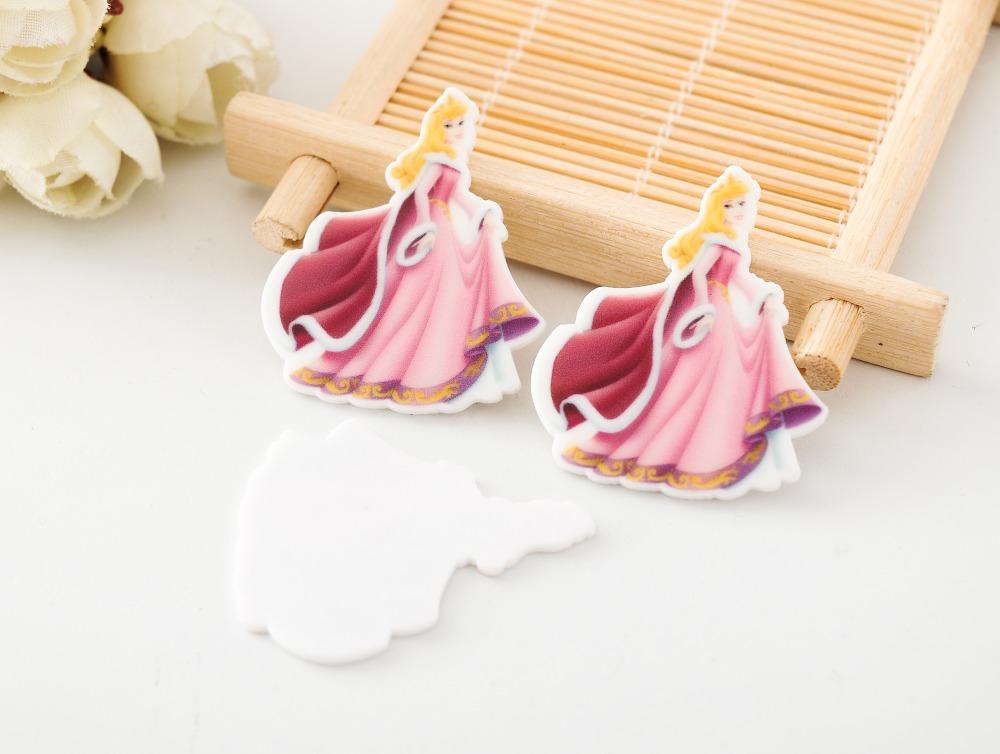 Kawaii cartoon flat back planar resin sleeping beauty princess aurora Figurine holiday decoration craft DIY hair Bow accessories(China (Mainland))