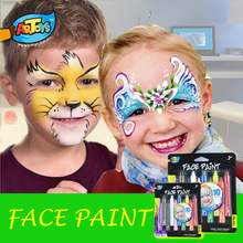 Artoys Dazzling Toys Colored Face Paint Crayon Sticks - Pack of 10 - Ideal for a Princess, Circus, Fairy or Other Theme Party(China (Mainland))