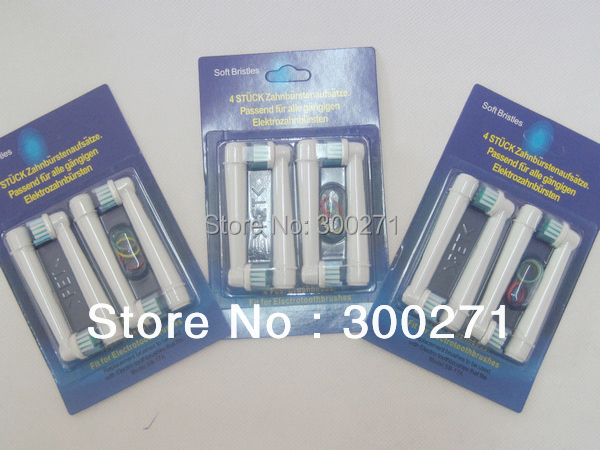 Free shipping 400pcs/lot soft bristles EB17-4 SB-17A electric toothbrush heads, Replacement brush head,oral hygiene toothbrush