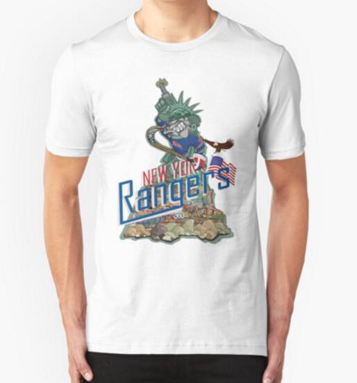 New arrive 2016 funny new york rangers printed t shirt for New york printed t shirts