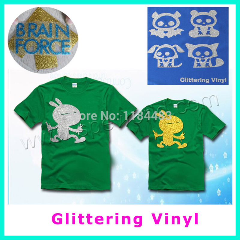 Glittering pet vinyl for cap or shoes and t shirt pet for T shirt design materials