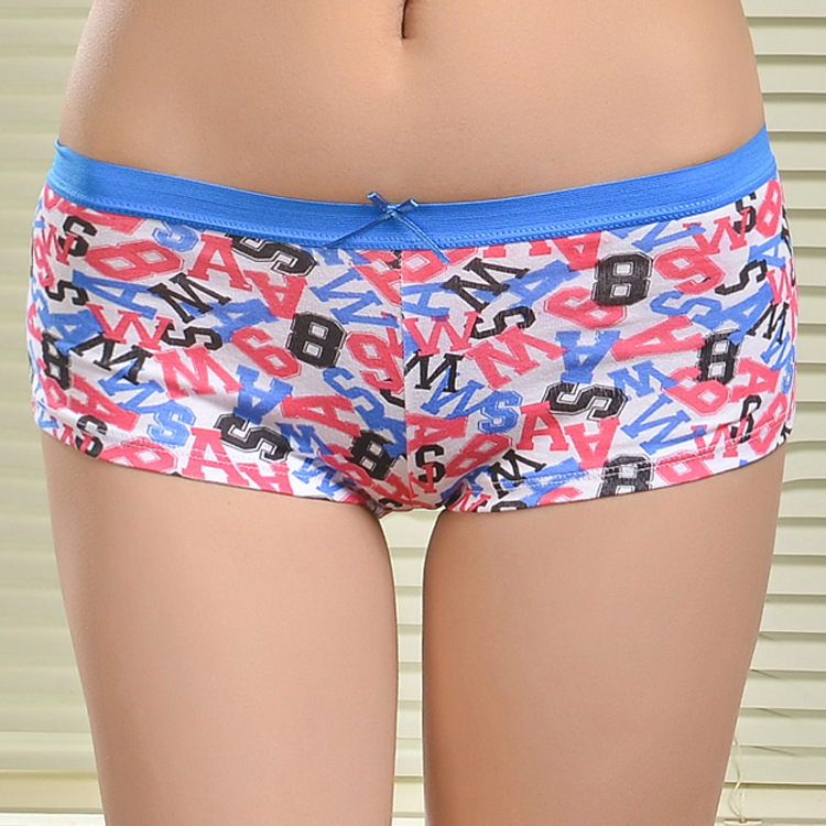 86868 New Arrival 2015 Letter Print Cotton Womens Boyshorts Panties