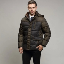 2015 winter clothing new men's jackets men's cotton-padded clothes of high quality business and leisure jackets