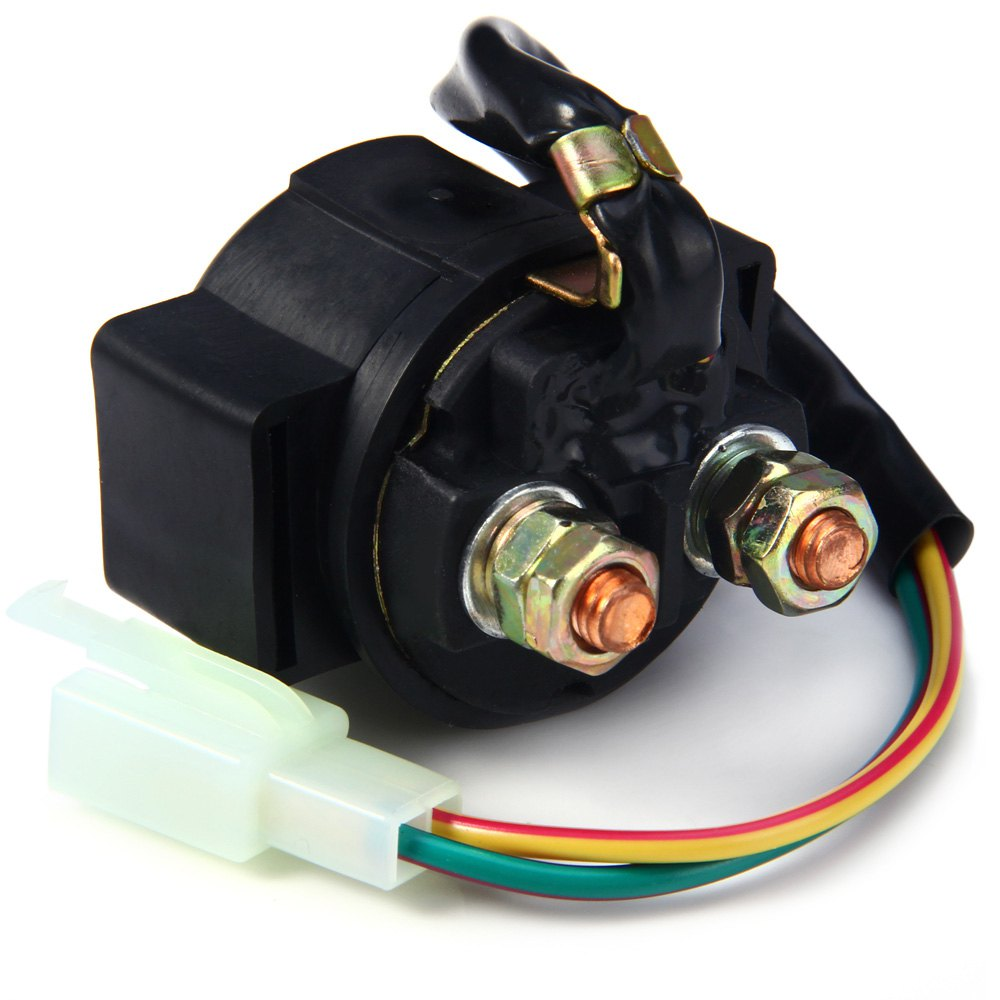 2016 High Quality 12V Starter Relay Solenoid Cable Driving Improve Device Starter for Quad Pit Bike 110cc 125cc Safety(China (Mainland))
