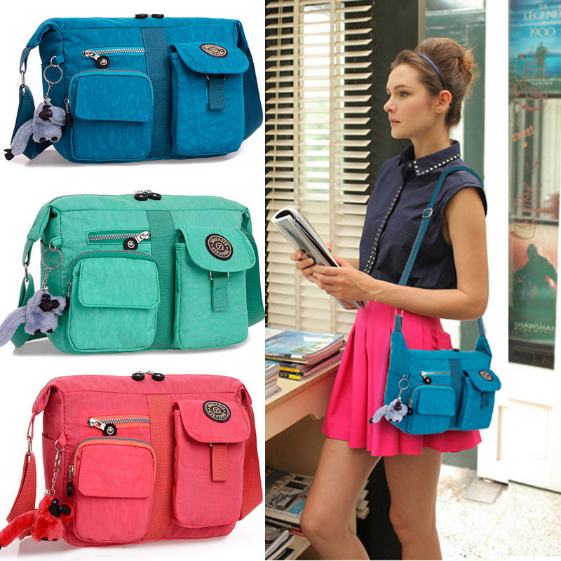 Colorful waterproof nylon canvas single shoulder lots pockets women's handbag women bags - Shenzhen Aitop Co., LTD store