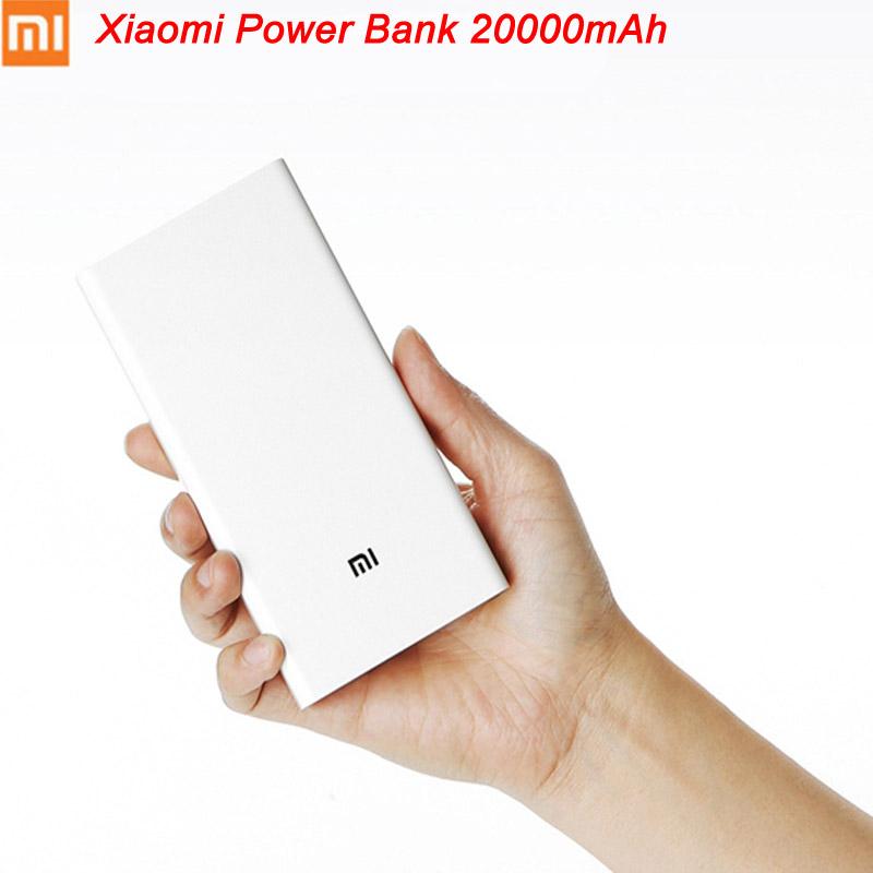 20000mAh Mi Power Bank Portable High Capacity Dual USB Charger Port Original Xiaomi External Battery Charger For Smartphones