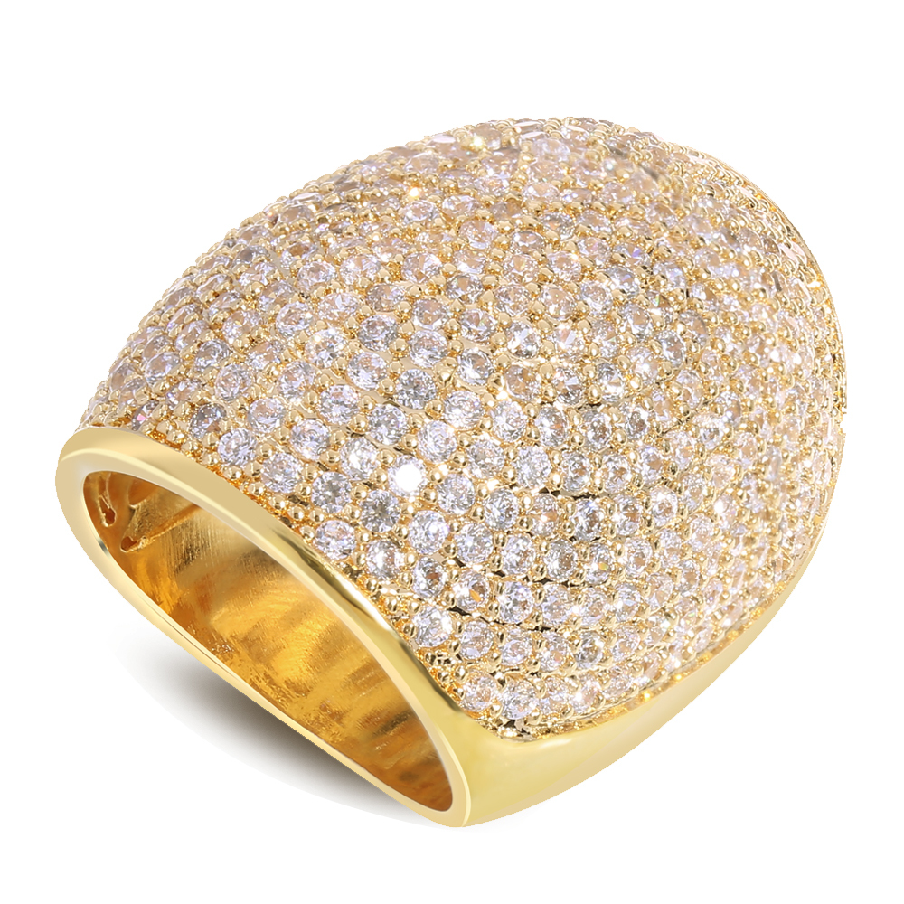 New arrival Real gold plated with cubic zirconia Rings gold filled ring Big ring for women fashion jewelry Free shipping<br><br>Aliexpress