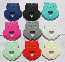 Owl Silicone Pendant Teething Necklace Pendant in Rainbow Colors(China (Mainland))