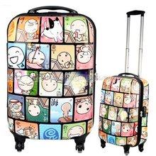 24inch cartoon world ABS+PC fashion 360 degree spinner wheels/swivel wheels cute trolley luggage ,traveller suitcase,Box - BLING SKY FASHION ACCESSORY store