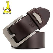Buy MILUOTA Mens Designer Belts Luxury High Cow Genuine Leather Strap Male Alloy Pin Buckle Brand Belt Man MU011 for $12.37 in AliExpress store