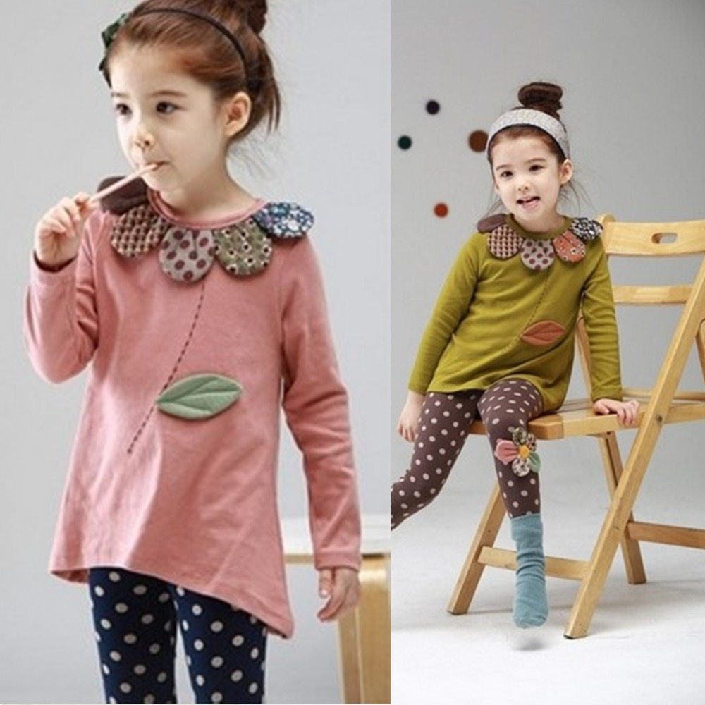 Spring Autumn 2016 Fashion Girl Set Children Clothing Set For Girls Outfits Baby Girl Clothes Set Girls Cotton Suit 2 pcs(China (Mainland))