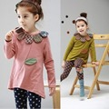 Spring Autumn 2016 Fashion Girl Set Children Clothing Set For Girls Outfits Baby Girl Clothes Set