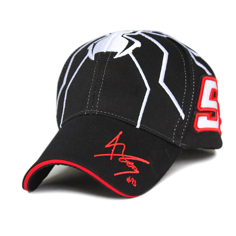 Lucky 93 car race fan baseball cap racing motorcycle fans man hat embroidery letter cool sunhat spider pattern cool male caps(China (Mainland))