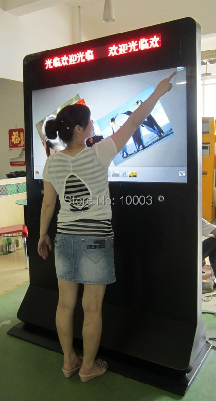 "2015 Touchscreen Monitor Hot Selling 4 Real Touch Points 50"" Ir Multi Frame Screen Panel/frame Without Glass 16:9 Format Minitor(China (Mainland))"
