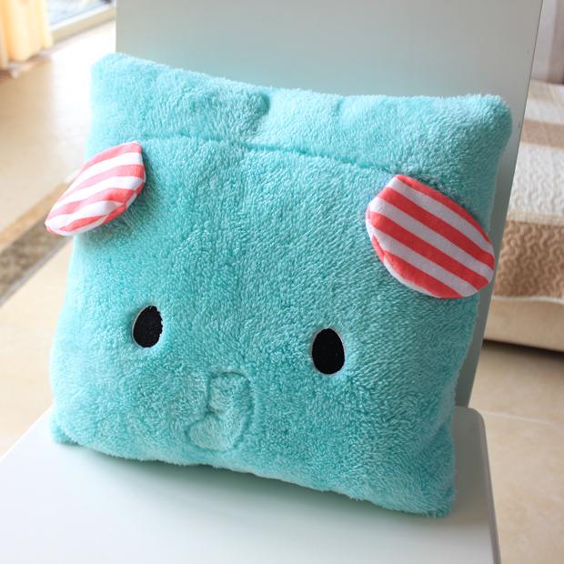 Free shipping elephent plush pillow and cushion 1set/lot bear plush doll(China (Mainland))
