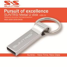 Suntrsi Metal Steel Ring USB Stick USB flash drive pen drive 8GB/16GB/32GB/64GB usb stick external storage pendrive free ship(China (Mainland))