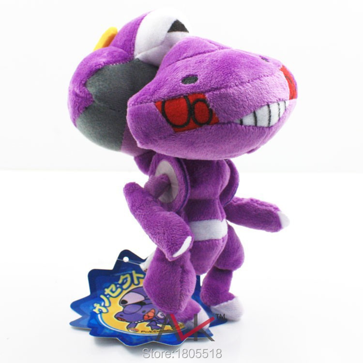 16CM -Hot Sale Retail Pokemon Super Cute Genesect Plush Toy Stuffed Animal New In Stock & Free Shipping Made in China(China (Mainland))