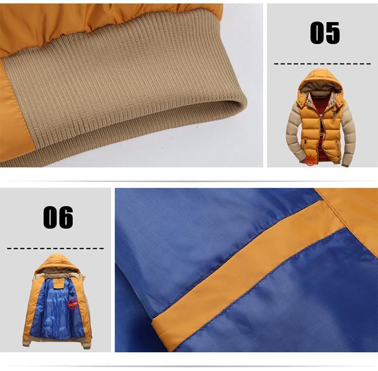 Hooded Men Warm Jacket 2016 Winter Coat Warm Casual Fur Collar Down Coat Winter Men Outwear Parkas Plus Size M-3XL