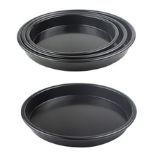 1pcs 5inch -10incj Aluminum Alloy Baking mold non-stick pizza pan full-size black non-stick deep dish pizza port Top Quality(China (Mainland))