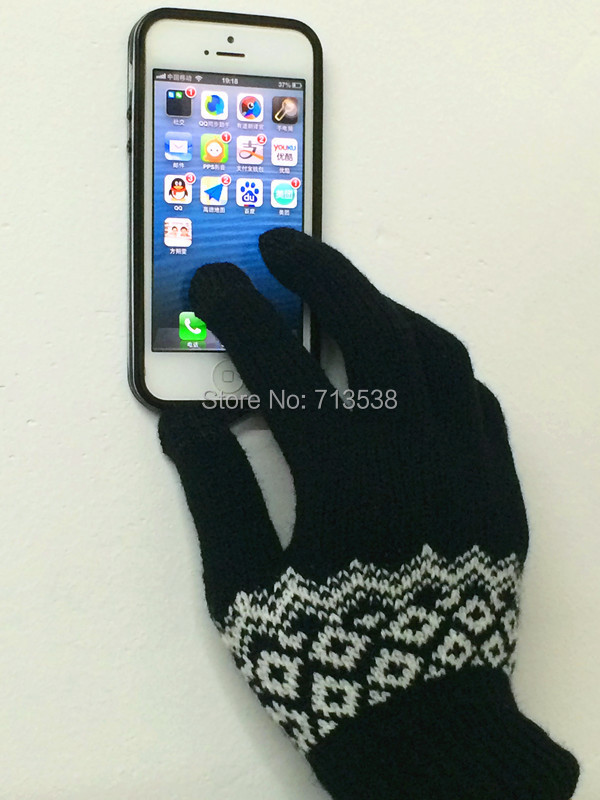 Winter Knitted iglove I pad i Phone Screen Touch Gloves outdoor hand wrist fitness gloves for womenand men, I glove Mittens(China (Mainland))