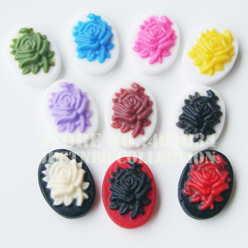 14*10mm 10colors resin rose cameo,flat back cabochon loose beads for making earrings/rings/necklace pendant,500pcs/lot<br><br>Aliexpress