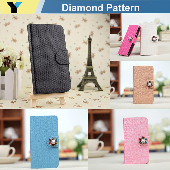Fashion Luxury Folio Wallet Case for samsung GALAXY SII I9100 S2 Fashion shinning Magnetic Flip Cover(China (Mainland))