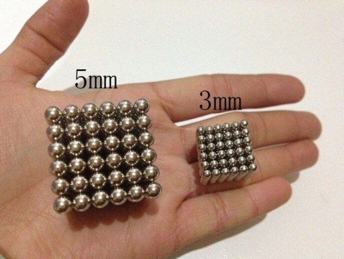 New 216 Pcs 3mm Sphere Ball Neodymium Rare Earth Super Cube Magnets N35 Toy(China (Mainland))