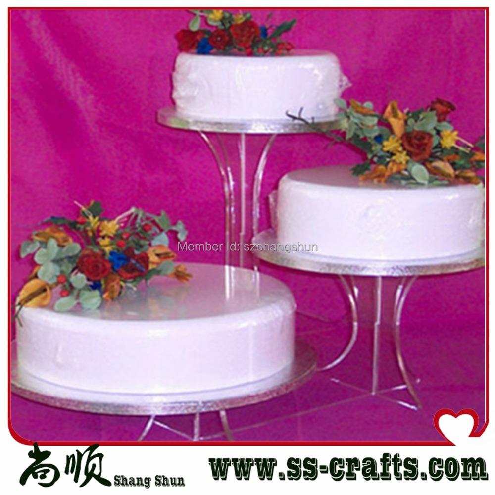 Storey Cheap Beautiful Bracket Acrylic Wedding Cake Stand