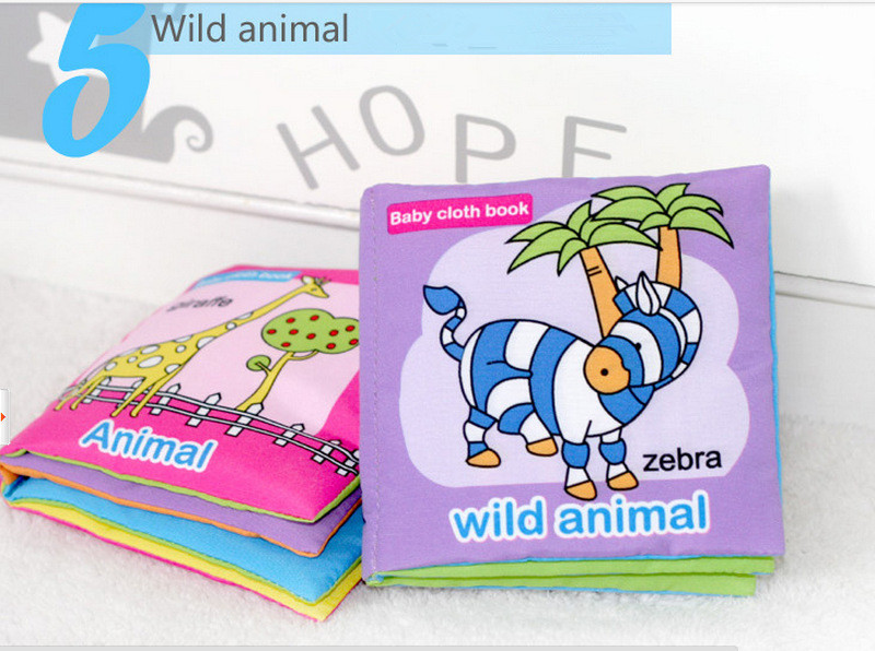 # Purple Forest animals Baby Cloth Cognize Book Knowledge Multi-touch Educational Infant Developmental Toys 4*4inch 11*11cm New - Heaven of store