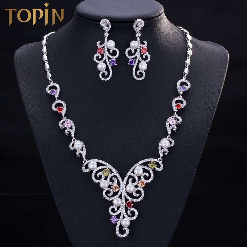 wedding party jewelry sets beads wedding accessories bride jewelry set