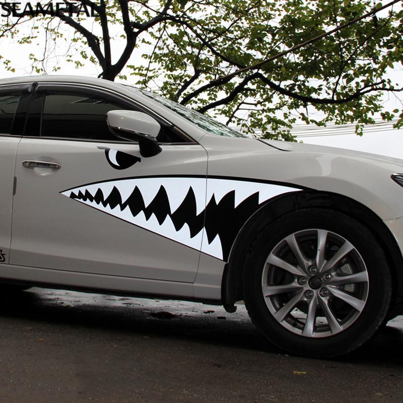 Compra boca del tibur n pegatinas online al por mayor de for Custom car designer online