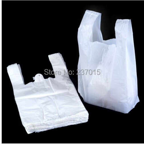 18*28cm 100pcs/lot Transparent Bags Shopping Bag Supermarker Plastic Bags With Handle Wholesale(China (Mainland))