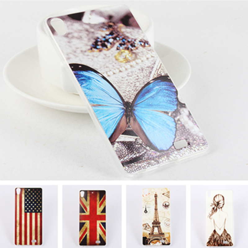 New Vintage Cartoon Soft TPU Case for BLU Vivo Air Eiffel Tower Ferris wheel Butterfly Owl US UK Flag Girls Pattern Phone Cover(China (Mainland))