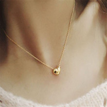 Best seller Free Shipping Diomedes Fashion Women Gold Heart Statement Chain Pendant Necklace Jewelry Apr13 N(China (Mainland))