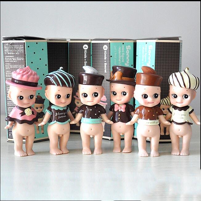 Original Box 6 PCS/Lot Japanese Kewpie Sonny Angel dolls Cute Kawaii Cupid PVC Action figure Kids toy Birthday Gift for Children(China (Mainland))