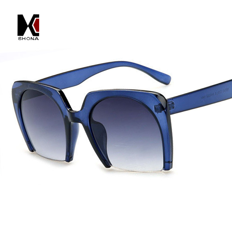cool glasses frames dk48  Semi-rimless Frame Resin Lenses Sun glasses Europe and America Women Sunglasses  Cool Eyewear Oculos de sol feminino vogue