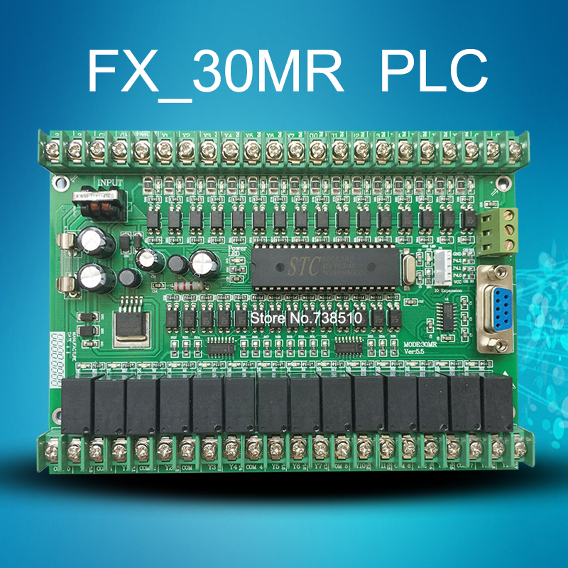 High quality FX_30MR 30MT PLC industrial control board Programmable logic controller 51 single chip microcomputer Free shipping(China (Mainland))