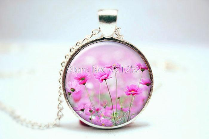 10pcs/lot Daisy Necklace, Daisy Jewelry, Daisy Pendant, Flower Necklace, Romantic Gifts, Flower Girl Gifts, Garden Jewelry(China (Mainland))