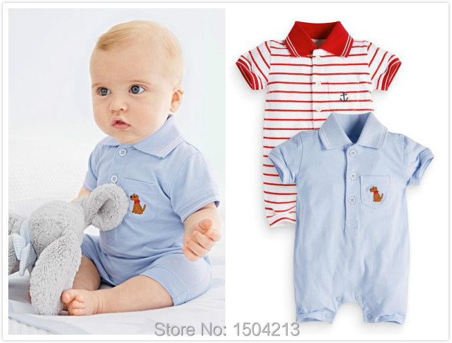 2015 new baby boy summer clothes 100% cotton overalls ...