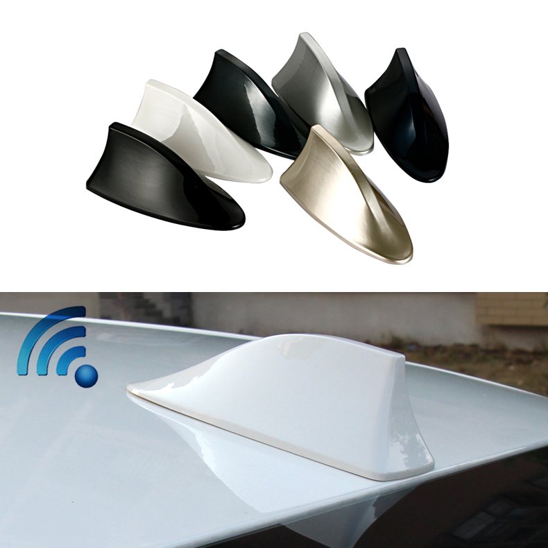 Hyundai tucson solaris accent elantra i30 ix35 hb20 shark fin antenna blank radio car antena aerial 3M stickers accessories