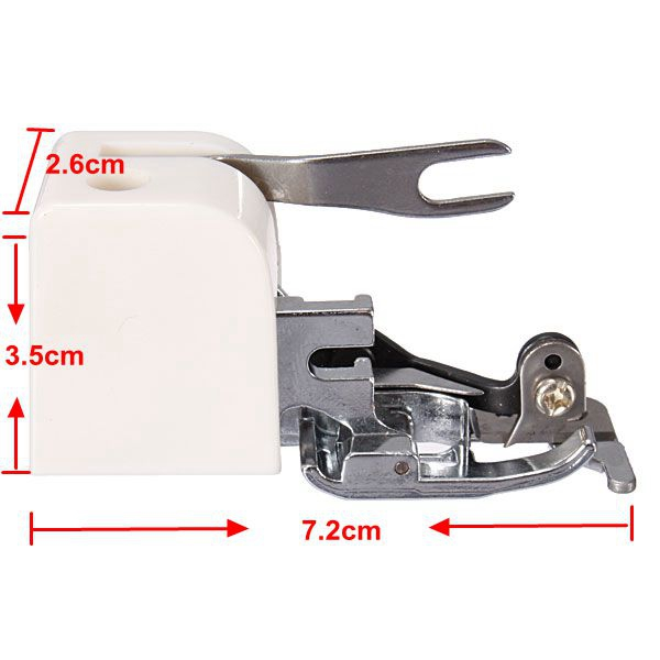 Brand New 1 Side Cutter Zig Zag Sewing Machine Attachment Foot Low Shank Cut & Hem Sharp Hot Sale(China (Mainland))