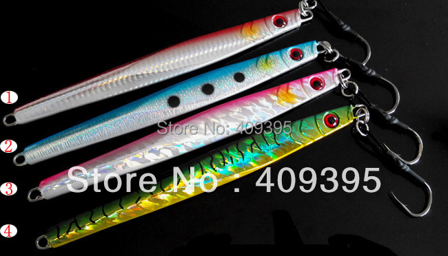 4pcs 200g lead fish lead jig knife jig Mixed  4 colors with seperate package free shipping<br><br>Aliexpress