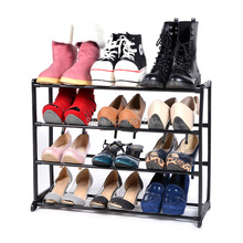 12 Pair 4 Tier Shoe Tower Rack Storage Stand Organizer Shoes Racks Shelf to Shoes 30(China (Mainland))
