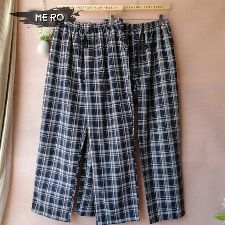 Spring and autumn Mens plaid long section sleep bottoms, free shipping home wear 100% cotton comfort sheer mens pantsОдежда и ак�е��уары<br><br><br>Aliexpress